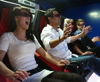 Посещение 5D-кинотеатра